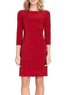 Tahari ASL Jersey Tiered Sheath Dress