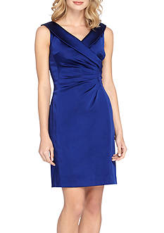 Tahari ASL Portrait Collar Sheath Dress