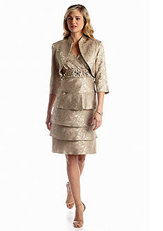 RM Richards Three Quarter Sleeve Jacket Dress