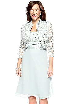 RM Richards Three-Quarter Sleeved Jacket Dress