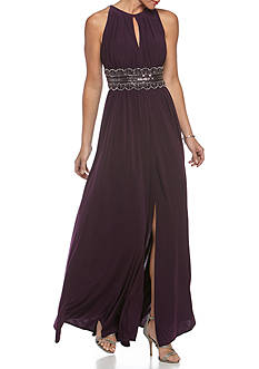 RM Richards Beaded Halter Gown