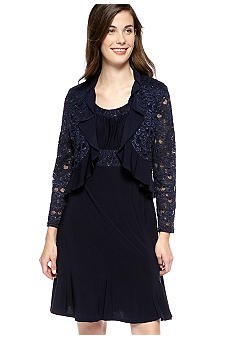 RM Richards Petite Lace Jacket Dress