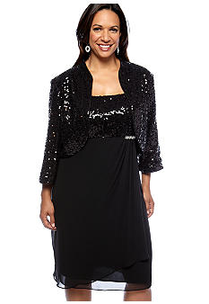 RM Richards Sequin Jacket Dress