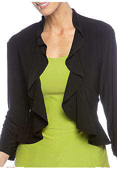 RM Richards Plus Size Ruffle Shrug