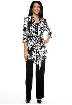 RM Richards Petite Three-Quarter Sleeved Pant Set