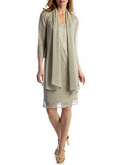 RM Richards Three-Quarter Sleeve Jacket Dress