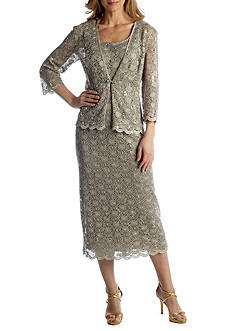 RM Richards Lace & Sequin Jacket Dress