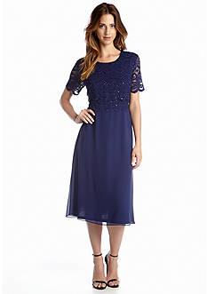 RM Richards Short Sleeve A-line Dress