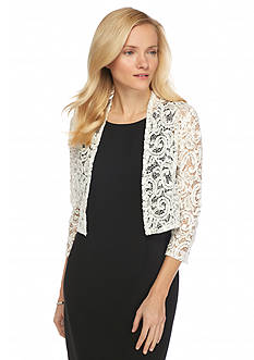 RM Richards Lace and Sequin Shrug