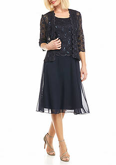 RM Richards Lace and Sequin Jacket Dress