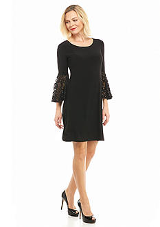 RM Richards Bell-Sleeve Shift Dress