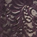 R & M Richards Dresses: Plum/Taupe RM Richards Lace and Sequin Bodice Gown with Chiffon Skirt