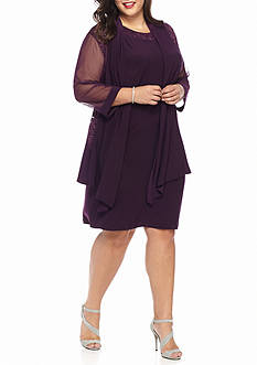 RM Richards Plus Size Plus Size Elongated Jacket Dress