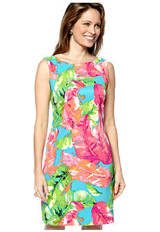 Kim Rogers Sleeveless Floral Sheath Dress