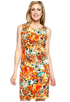Kim Rogers Sleeveless Floral Printed Sheath Dress