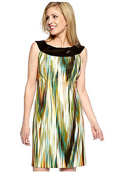 Kim Rogers Sleeveless Stripe Sheath Dress