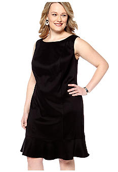 Kim Rogers Plus Size Sleeveless Dress with Flounce Hem