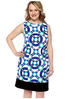 Kim Rogers Plus Size Printed Sheath Dress