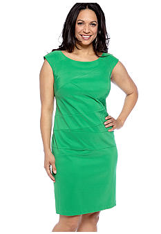 Kim Rogers Plus Size Sleeveless Sheath Dress