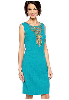 Ellen Tracy Dresses Textured Shift Dress