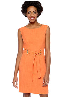 Ellen Tracy Dresses Basketweave Textured Sheath Dress