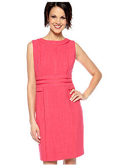 Ellen Tracy Dresses Textured Sheath Dress