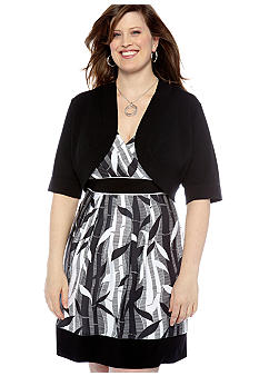 New Directions Plus Size Shrug Sweater