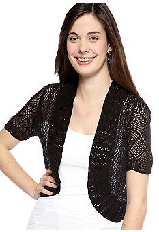 New Directions Short-Sleeved Crochet Bolero