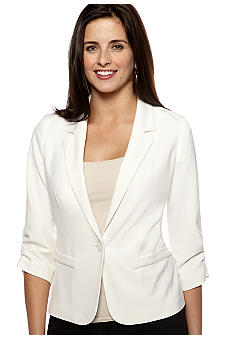 New Directions Ruched Sleeve Jacket