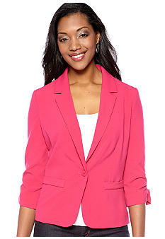 New Directions Three-Quarter Sleeved Blazer