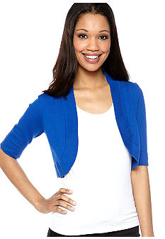 New Directions Elbow-Sleeved Shrug