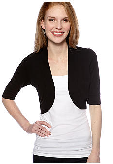 New Directions Basic Short Sleeve Shrug