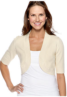 New Directions Elbow Sleeved Shrug