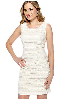 New Directions Sleeveless Allover Lace Sheath Dress