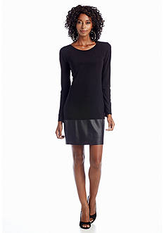 Betsy & Adam Long Sleeve Cocktail Dress
