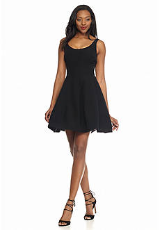 Betsy & Adam Sleeveless Fit and Flare Dress