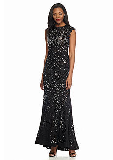 Betsy & Adam Beaded Lace Gown