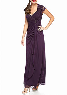Betsy & Adam Lace Bodice Gown