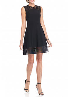 Betsy & Adam Fit and Flare Party Dress