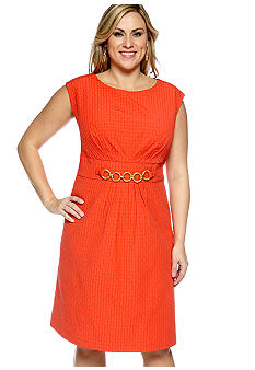 Kim Rogers Sleeveless Jacquard Dress