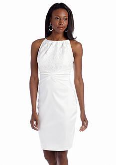 JAX Sleeveless Halter Sheath Dress