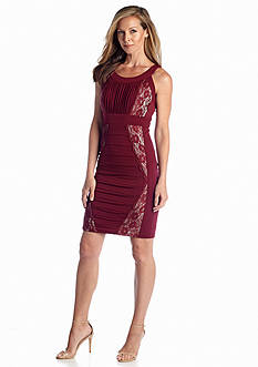 JAX Sleeveless Sheath Dress with Lace