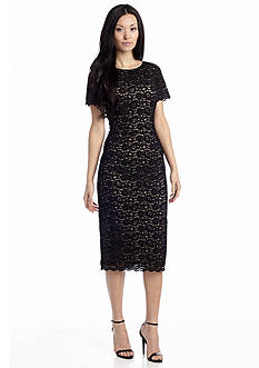 Maggy London Allover Lace Sheath Dress