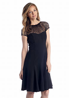 Maggy London Cap Sleeve Fit-and-Flare Dress