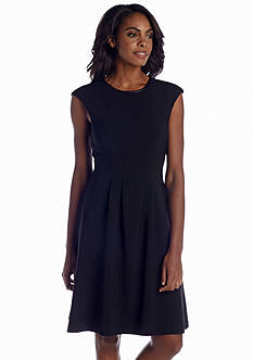 Maggy London Cap-Sleeve Fit and Flare Dress