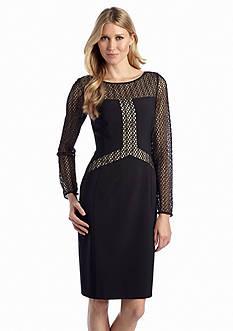 Maggy London Long-Sleeve Sheath Dress