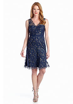 Maggy London Allover Lace A-line Dress