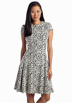Maggy London Jacquard Fit and Flare Dress