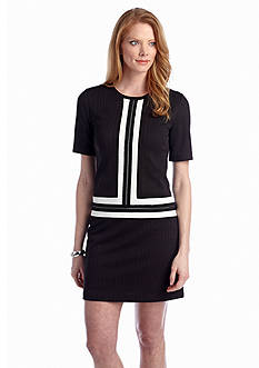 Maggy London Color-block Shift Dress