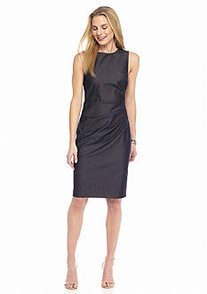 Maggy London Sleeveless Jean Sheath Dress